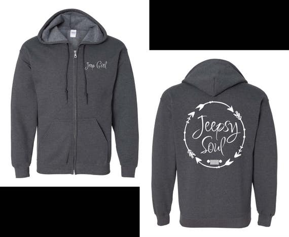 Just For Jeep Girls Logo Hoodie {Jeepsy Soul} - Adult Heavyweight Hoodie ZuLqe