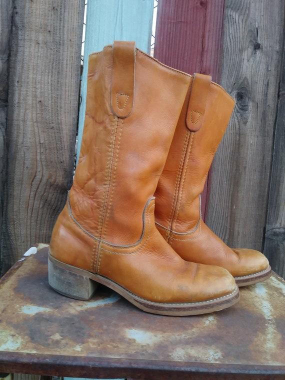 Vintage leather campus boots Landis