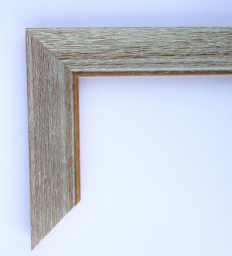 Custom Frame for Any Size Artwork Rustic Wood White Wash 1 image 0