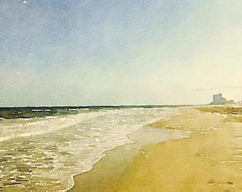 At the Ocean digital watercolor