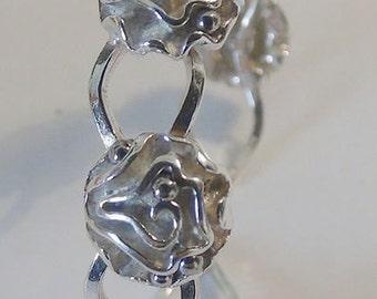Rose Flowers Bracelet, Cuff Bracelet, Ladies Bracelet, 925 Sterling Silver Bracelet, BLOSSOM