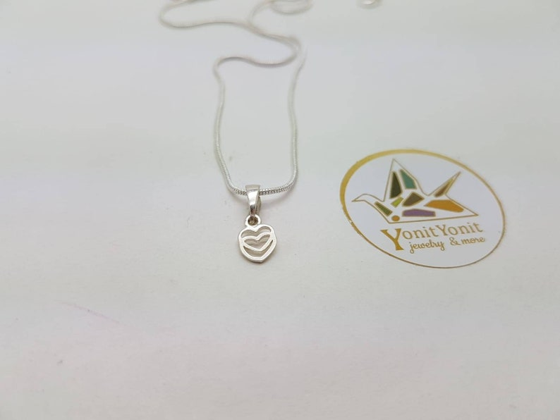 Women Jewelry life path is leadind to the heart and going out from the heart,family  silver pendant Tiny Heart geometric shapes pendant