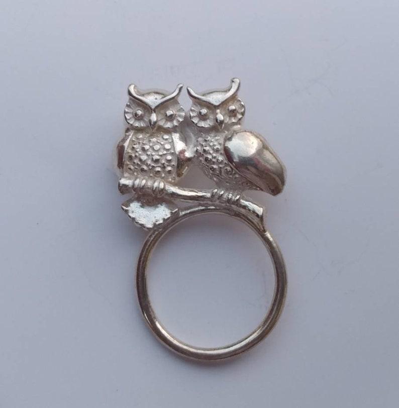 USA vendeur Owl ring sterling silver 925 BEST DEAL Oiseaux Bijoux Taille 9