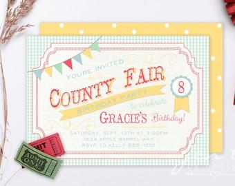 County Fair | County Fair Birthday | County Fair Party | County Fair Invite | Fair Invitation | County Fair | Birthday Invitation | Fair