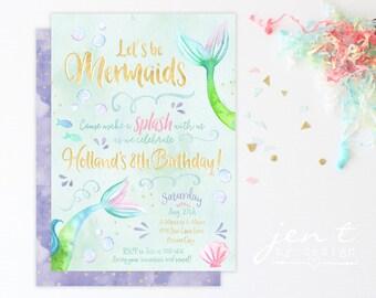 Mermaid Invitation | Mermaid Party | Mermaid Birthday | Under the Sea | Mermaid Invite | Mermaid | Under the Sea Party | Birthday Invitation