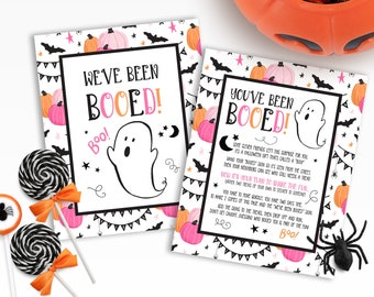 Booed Signs | Printable Booed Signs | We've Been Booed | You've Been Booed | Printable You've Been Booed | Pink You've Been Booed Signs