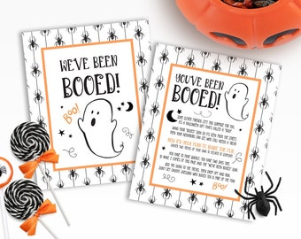 Booed Signs | Printable Booed Signs | We've Been Booed | You've Been Booed | Printable You've Been Booed | Spider You've Been Booed Signs