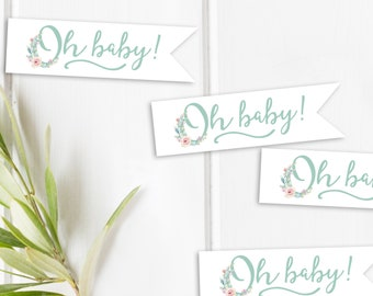 Succulent Favor Tags | Baby Shower Tags | Shower Favor Tag | Baby Shower