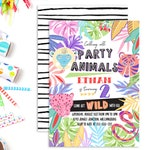 Jungle Party Animal Invitation | Party Animal Invitation | Jungle Party Animal | Party Animal | Party Animal Invitation | Jungle Invitation