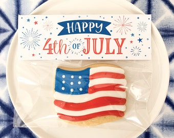 Printable 4th of July Tag | Patriotic Tag | 4th of July Favor Tag | 4th of July Cookie Tags | Patriotic Gift Tags | July 4th Party Printable