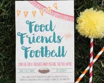 Tailgate Invitation   Football Party   Tailgate Party   Football Invitation   Tailgate   Football   Tailgate Birthday   Football Invite