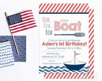boat invitation etsy