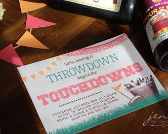 Tailgate Invitations - Throwdown Before the Touchdowns