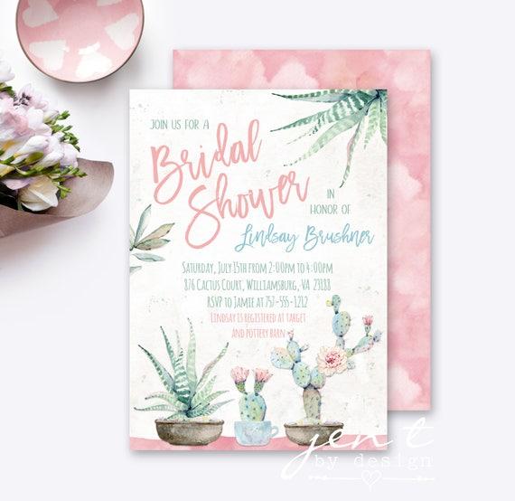 succulent shower invitations succulent invite bridal shower