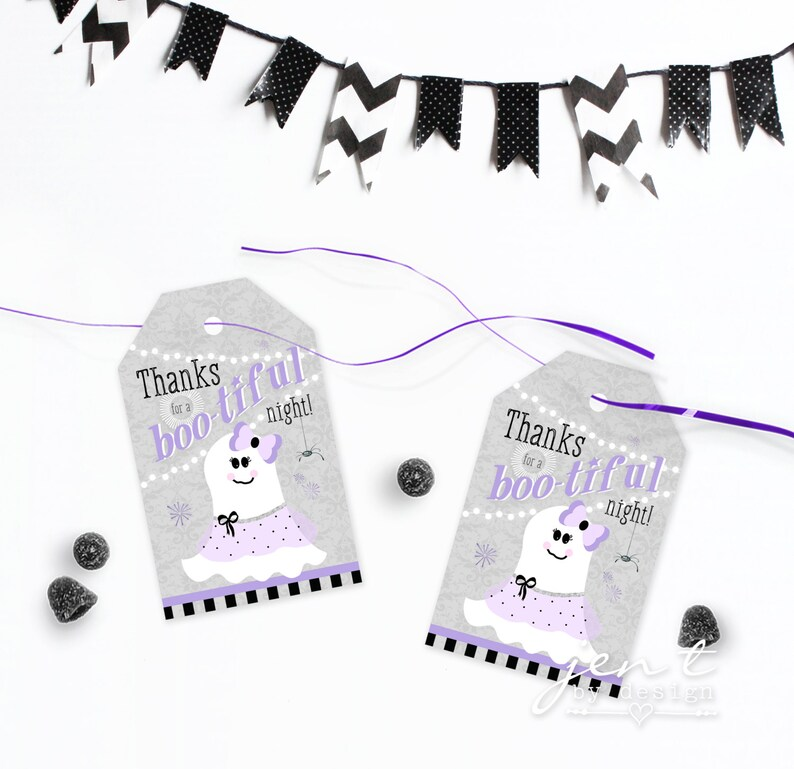 Ghost Favor Tag  Halloween Tags  Ghost Favors  Halloween image 0