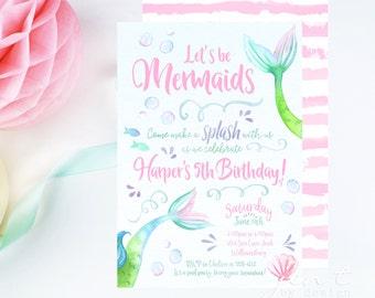 Mermaid Invitation | Mermaid Party | Mermaid Birthday | Under the Sea | Mermaid Invite | Mermaid | Under the Sea Party | Pool Party