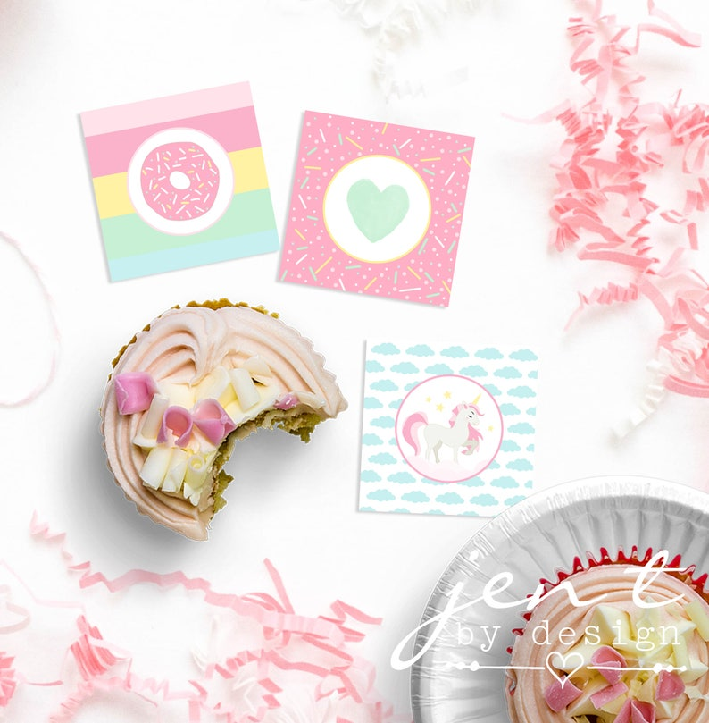 Donut Stop Believin Cupcake Toppers  Donut CupcakeToppers  image 0