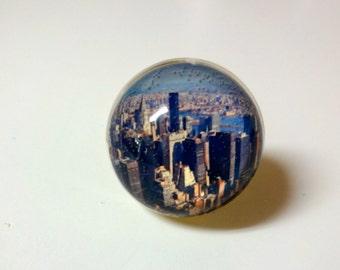 New York City Ring - NYC Jewelry - Manhattan - Empire State Building - City View - New York Ring - New York Jewelry - Photo Ring