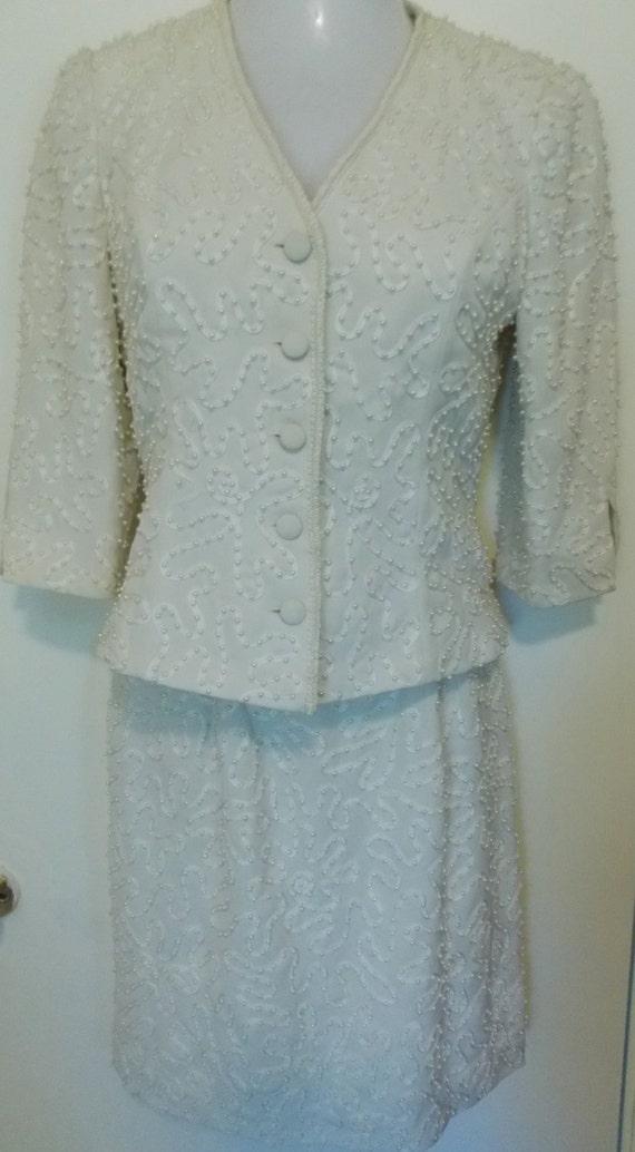 MARIE St. CLAIRE  Vintage Suit - Lace Ribbon and … - image 1