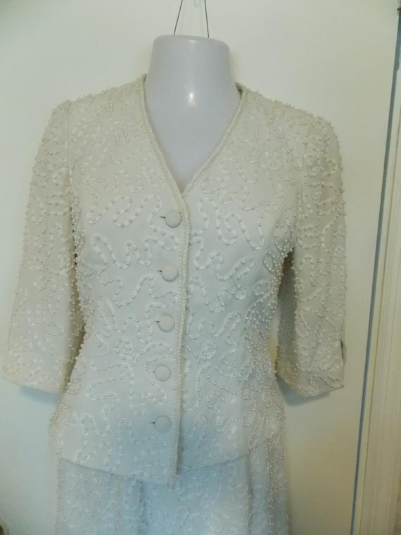 MARIE St. CLAIRE  Vintage Suit - Lace Ribbon and … - image 2