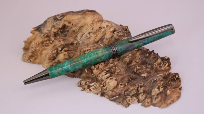 Hand-Made Box Elder Burl Roadster Pen image 0