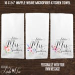 Bridal Shower Gift, Future Mrs Gift, Personalized Kitchen Towels, Housewarming Gift, Personalized Towel, Dish Cloth, Monogrammed Towels KTP9