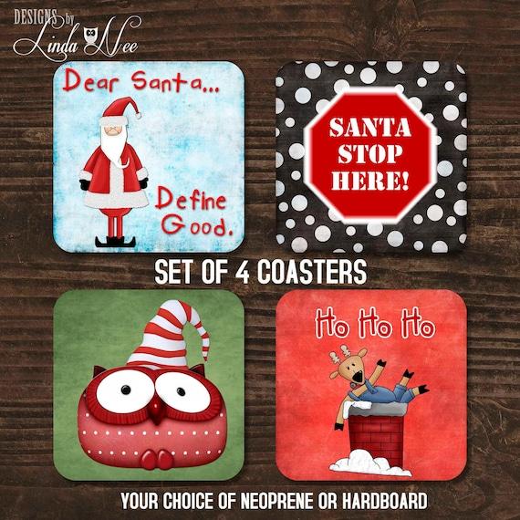 Round Rubber CoasterCoaster Set Holiday Gift