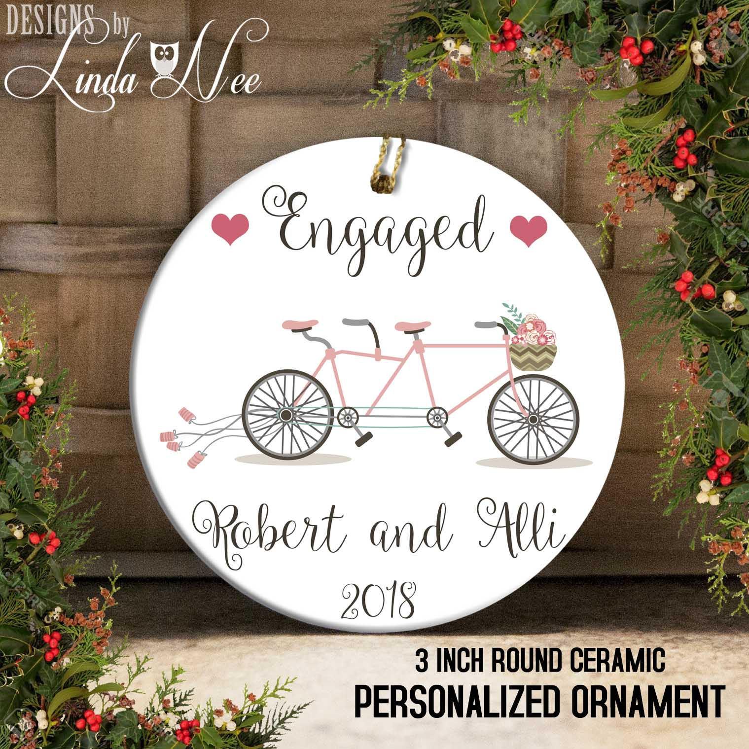 Engagement Ornament engagiert nur Ornament Engagement Geschenk   Etsy