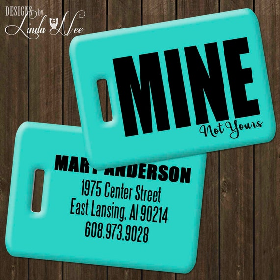 LUGGAGE TAGS GREEN Zipcode Bag Tags PERSONALIZE WITH YOUR OWN ZIP CODE
