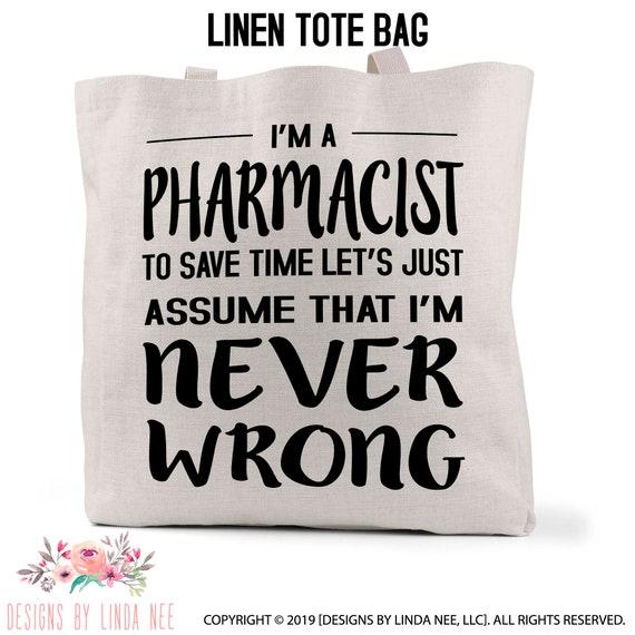 Trust Me I/'m A Pharmacist Regular Tote Bag Favourite Best Funny Joke Shopper