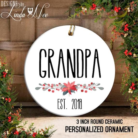grandpa ornament new grandpa christmas gift first christmas - Grandpa For Christmas
