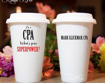 I'm a Certified Public Accountant What's your Superpower CPA Travel Mug, Gift for Accountant, Financial Planner Mug, CPA Superpower MSA203