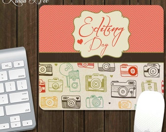 Editing Day Photographer Mouse Pad, Gifts for Photographers, Photography Gifts, Camera Mousepad, Desk Accessories, Office Accessories A0007