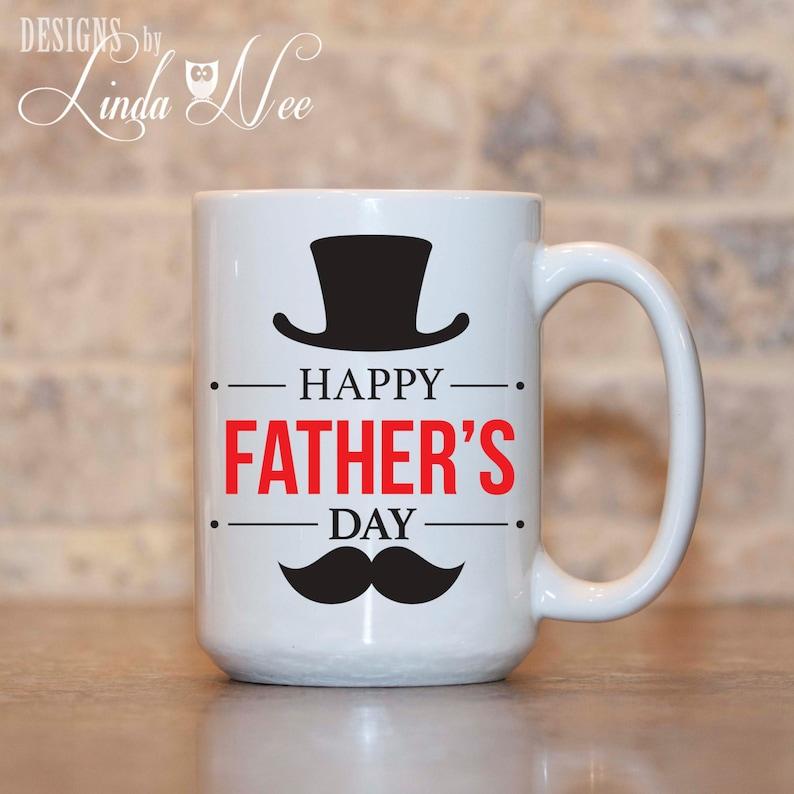 64f50339d5c Happy Father's Day mok snor geschenk aan papa Gift van de | Etsy
