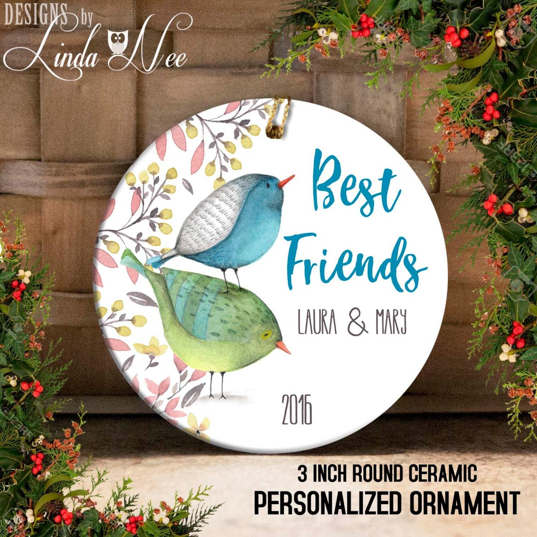 Best Friends Ornament Personalized Best Friend Christmas | Etsy