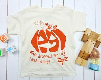 Halloween Toddler Youth Kids T-shirt, Jack O'Lantern Pumpkin Tee, Screen Print, Kids Funny Shirt