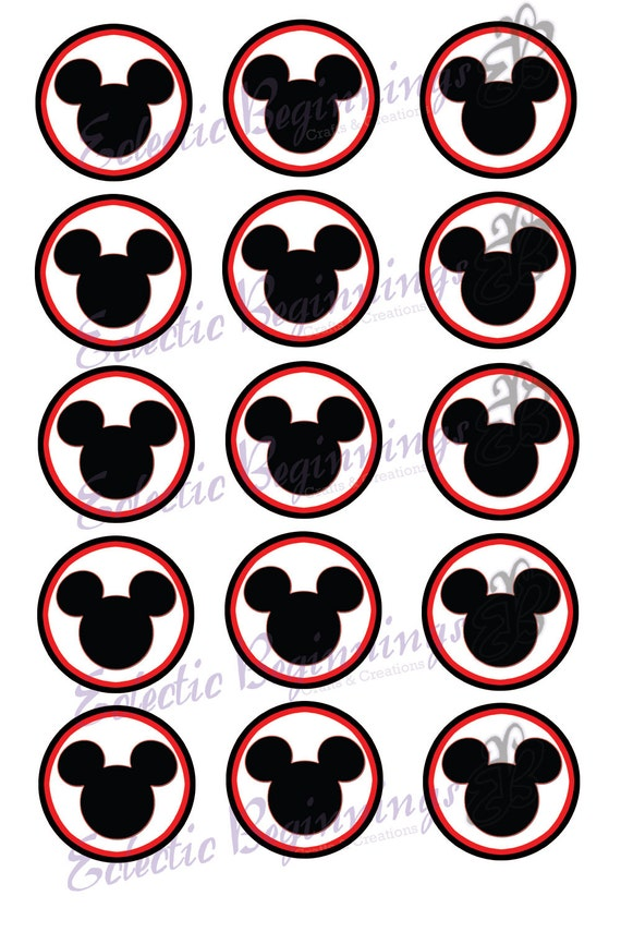 Disney Parks Mickey Mouse Silhouette Collage 2019 3D Acrylic Magnet