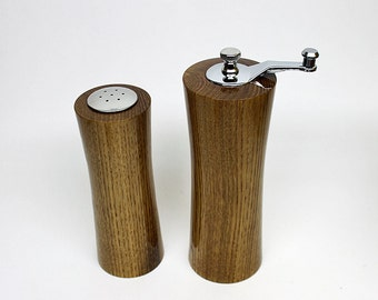 Peppermill, Pepper Mill, Pepper Grinder, American Chestnut Pepper Mill Set made with 125 Year old wood and high quality USA SS grinder