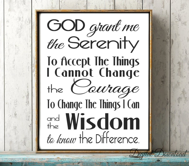 picture relating to Printable Serenity Prayer known as Serenity Prayer Printable Subway Artwork Wall Artwork Electronic Obtain jpg God Grant Me the Knowledge 16x20 8x10 A4 11x14 5x7 SALE Suitable Present
