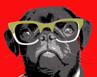DIGITAL VERSION** Funky Pet Portraits - Illustrations of YOUR pets, printed in colours of your choice