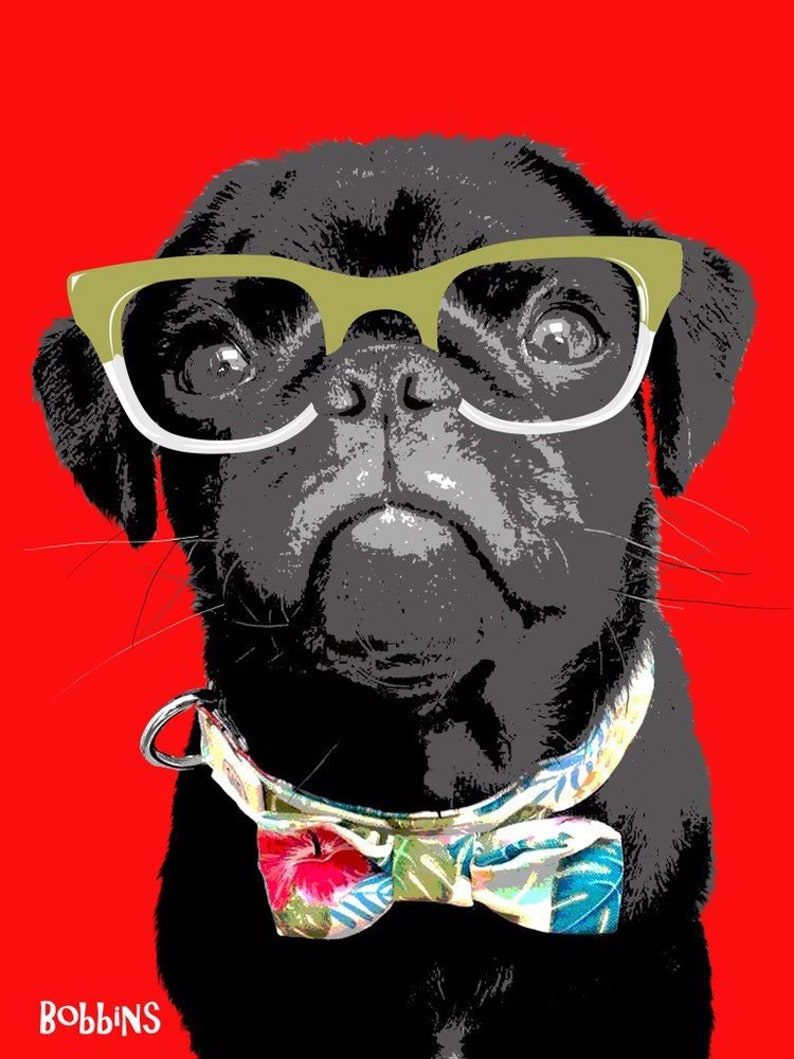DIGITAL VERSION Funky Pet Portraits  Illustrations of YOUR image 0