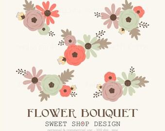 Flower Clip Art, Wedding Clip Art, Royalty Free Clip Art, BPC, Instant Download
