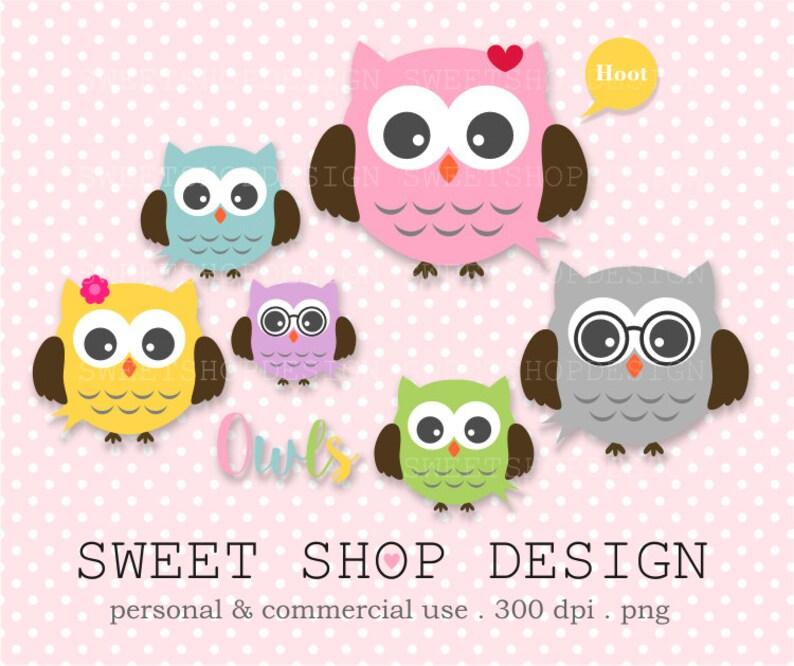 Owl Clip Art Baby Shower Clip Art Animal Clip Art Royalty Etsy