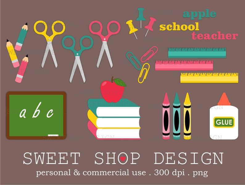 Clipart Clipart Schule Bildung Lehrer Clipart Royalty Free Etsy