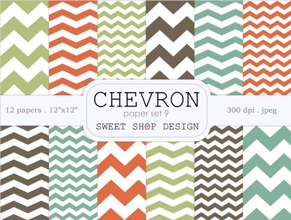 Digital Paper Printable Scrapbook Paper Pack Chevron N09 Etsy