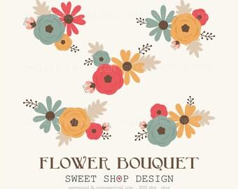 Flower Clip Art, Wedding Clip Art, Royalty Free Clip Art, BRY, Instant Download
