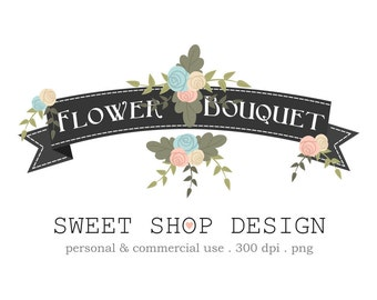 Flower Bouquet Clip Art, Floral Clip Art, Wedding Clip Art, Royalty Free Clip Art, BRBGP, Instant Download