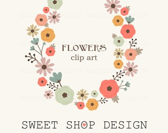 Flowers Clip Art, Wedding Clip Art, Royalty Free Clip Art, NA07, Instant Download