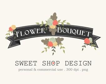 Flower Clip Art, Wedding Clip Art, Royalty Free Clip Art, BYPN02, Floral, Bouquet, Rose, Instant Download
