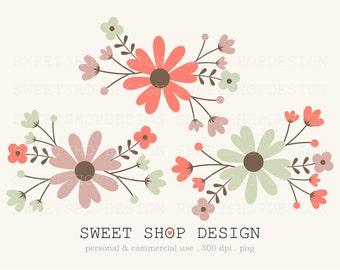 Flower Clip Art, Wedding Clip Art, Royalty Free Clip Art, N05M, Instant Download